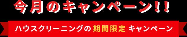 今月のキャンペーン!!